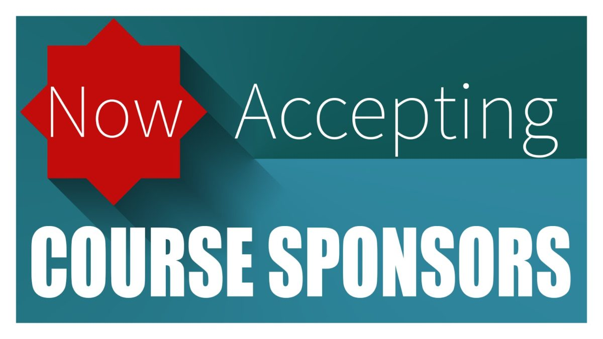Sponsor your favorite courses