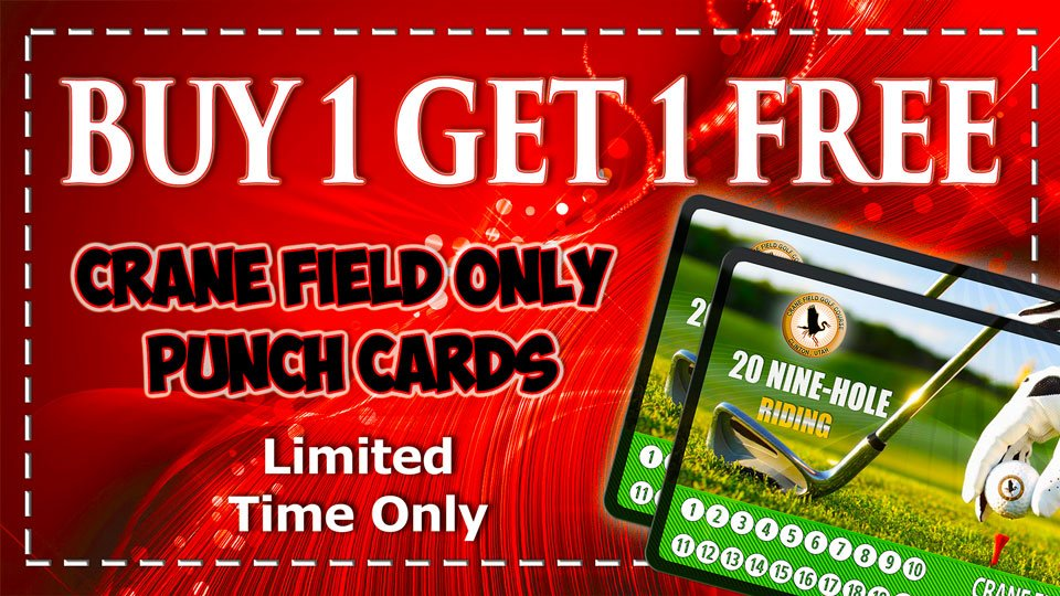 2 for 1 Crane Field Promotion