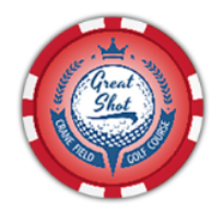 Great shot ball marker chip